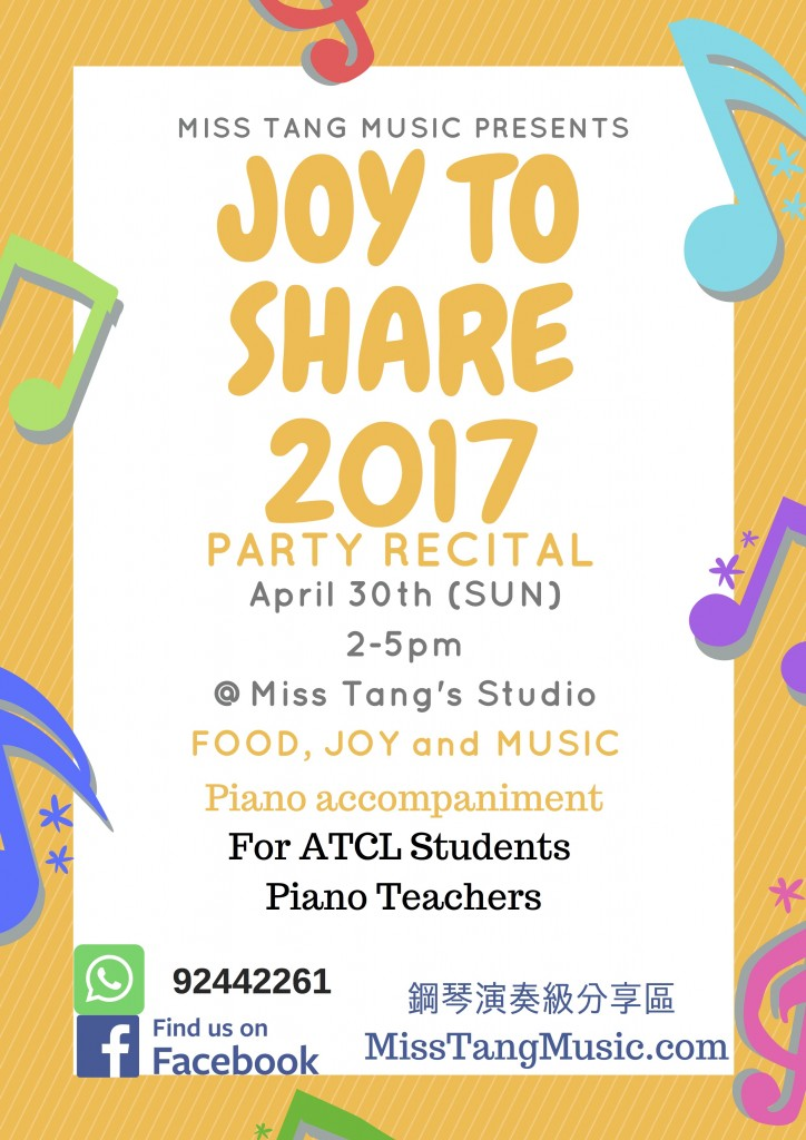 Joy To Share Party Recital 2017