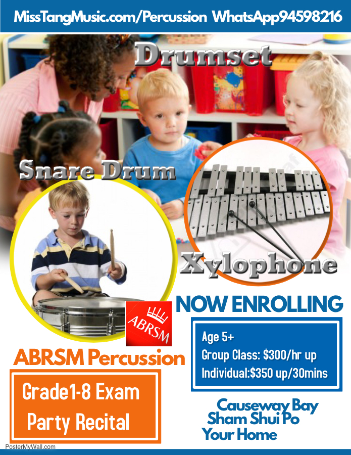 abrsm percussion drumset xylophone lesson