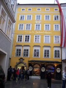 Mozart's home in Salzburg