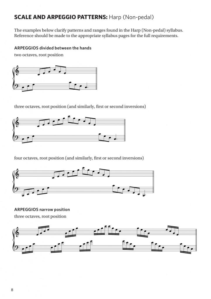 Harp__Non-pedal__syllabus_scales_arpeggio_pattern