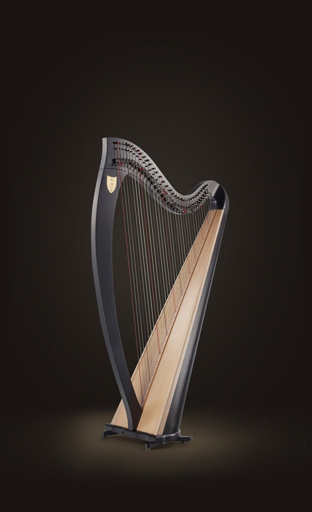 "$24900 Ogden Lever Harp 34 Strings lever harp 1st octave A to 6th octave C Height 53"" (135 cm) (with standard feet; pictured with optional 8"" legs) Extreme Width 28"" (71 cm) Weight 28 lbs (13 kg) Natural, mahogany and ebony finishes An ideal harp for both professional folk harpists and beginners alike, the Lyon & Healy Ogden was built with a Hard Maple body and a Sitka Spruce soundboard to give it a rich, resonant sound. Its responsive tone is big enough for any venue, while the Ogden's lighter weight makes it easy to transport. Available in natural, mahogany or ebony finishes; fitted with Performance levers. Optional set of 4"" and 8"" legs available (extra cost). The Ogden comes with a tuning key, carrying case and a 2-year limited warranty."